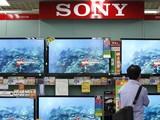 TV Sony được bán tại một cửa hàng ở Tokyo. Ảnh: SCMP