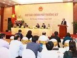 Buổi họp báo thường kỳ Chính phủ chiều 5-11 (Nguồn: Báo chính phủ)