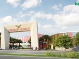 Phối cảnh cổng vào phía nam - Thành phố giáo dục quốc tế tại tỉnh Quảng Ngãi (Nguồn: NHG)