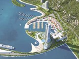 Tòa tháp chữ V sẽ là điểm nhấn của dự án Con đường di sản Vân Đồn (Nguồn: Internet)