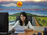 Bà Trương Thị Tâm khi còn đảm nhiệm vị trí Phó Chủ tịch HĐQT Cienco 4. (Ảnh: Cienco 4)