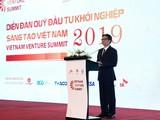 Phó Thủ tướng Vũ Đức Đam phát biểu tại Diễn đàn Quỹ Đầu tư khởi nghiệp sáng tạo Việt Nam 2019 (Ảnh: VGP)