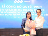 Bà Đặng Thị Lưu Vân và ông Trịnh Văn Quyết tại buổi lễ (Ảnh: FLC)