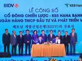Toàn cảnh buổi lễ công bố ký kết thỏa thuận hợp tác chiến lược giữa BIDV và KEB Hana Bank vào tối ngày 11/11