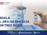 Công ty BioCubaFarma ngày 21/6 công bố kết quả cho thấy vaccine Abdala có hiệu quả bảo vệ 92,28% trước SARS-CoV-2 (Ảnh: BioCubaFarma).