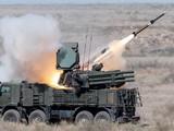 Hệ thống phòng không Pantsyr-S của Syria phóng tên lửa (Ảnh: Defense World ).