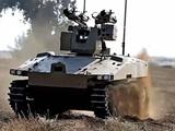Xe chiến đấu không người lái Soratnick của Nga được đưa vào sử dụng trên chiến trường Syria (Ảnh: toutiao).