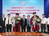 Lãnh đạo Trường Đại học Y Hà Nội và Bệnh viện Da liễu Trung ương chúc mừng 2 vị giáo sư được trao chức danh Giáo sư Danh dự