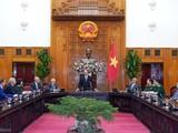 Thủ tướng Chính phủ Nguyễn Xuân Phúc phát biểu tại cuộc làm việc với Hội đồng Khoa học y tế. (Ảnh: Quang Hiếu)