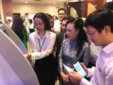 Bộ trưởng Bộ Y tế Nguyễn Thị Kim Tiến tại hội nghị triển khai thanh toán điện tử không dùng tiền mặt trong ngành y tế sáng nay