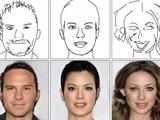 Hệ thống DeepFaceDrawing cho phép tạo ra hình ảnh gương mặt người giống thật, sắc nét từ bản vẽ.