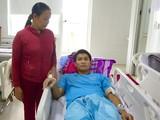 Bệnh nhân Lê Phước K đang điều trị tại Bệnh viện Đà Nẵng (ảnh Bệnh viện Đà Nẵng cung cấp)
