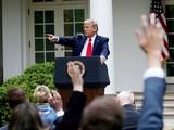 Tổng thống Trump trong một cuộc họp báo (Ảnh: Reuters)
