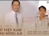 Hai tác giả của Chữ Việt Nam song song 4.0 là Trần Tư Bình và Kiều Trường Lâm