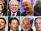 Các tỷ phú nổi tiếng thế giới, trong đó có cựu Chủ tịch Microsoft Bill Gates, CEO Amazon Jeff Bezos, CEO Facebook Mark Zuckerberg (ảnh Youngisthan)