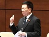 Bộ trưởng Bộ Tài chính Hồ Đức Phớc phát biểu tại Quốc hội chiều 25/7 (Ảnh: VGP)