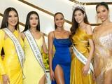 Hoa hậu H'Hen Niê, Á hậu Hoàng Thùy và Hoa hậu Khánh Vân, Á hậu Kim Duyên, Á hậu Thúy Vân