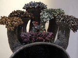 """Tác phẩm gốm """"Những đóa hoa nảy mầm"""" của họa sĩ Nguyễn Thị Dũng"""