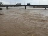 Nước sông Trà Câu đã vượt mức báo động 3 (Ảnh: Báo Quảng Ngãi)