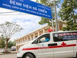 BV Dã chiến Củ Chi - nơi điều trị cho bệnh nhân 1342, 1347 và 1349. Ảnh: Duy Anh