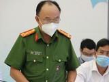 Đại tá Trần Văn Chính - phó giám đốc Công an tỉnh Bình Dương - phát biểu tại cuộc họp báo ngày 17-8 - Ảnh Tuổi Trẻ
