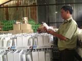 Lực lượng chức năng kiểm tra thực tế sản phẩm