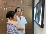 Bệnh nhân N. hồi phục sau khi mổ cắt khối u ở cổ.