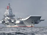 Tàu sân bay Liêu Ninh của Trung Quốc. Ảnh: AFP