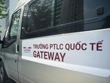 Một chiếc xe bus đưa đón học sinh trường Quốc tế Gateway.