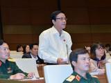 ĐBQH Nguyễn Hồng Vân (Phú Yên) có nhiều ý kiến đóng góp về hình thức xử lí kỉ luật đối với công chức sau khi nghỉ hưu.