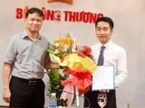 Ông Vũ Hùng Sơn (phải) khi vừa được bổ nhiệm Phó chánh văn phòng Ban Chỉ đạo 389 Quốc gia.
