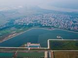 Nhà máy nước mặt sông Đuống nhìn từ trên cao-Ảnh: NGỌC QUANG