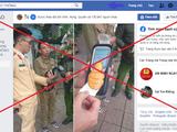 Một fanpage trên Facebook sử dụng tên và phù hiệu của lực lượng CSGT. Ảnh chụp màn hình: A.L.