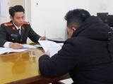 Phạm Kim Q làm việc tại cơ quan công an. Ảnh: Công an TP. Hải Phòng