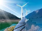 Giải pháp năng lượng sạch hạn chế ô nhiễm môi trường. Ảnh: Bộ TNMT.