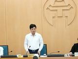Phó Chủ tịch UBND TP. Hà Nội Ngô Văn Quý tại cuộc họp của BCĐ Phòng dịch COVID-19 - vừa diễn ra chiều nay. (Ảnh: UBND TP. Hà Nội)