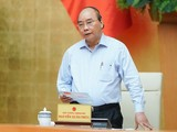 Thủ tướng Nguyễn Xuân Phúc phát biểu kết luận cuộc họp. Ảnh: VGP.