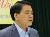 Ông Nguyễn Đức Chung khi còn đương nhiệm Chủ tịch UBND TP Hà Nội. Ảnh: UBND TP.HN