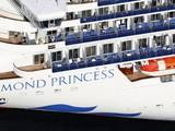 Tàu Diamond Princess neo đậu tại cảng Yokohama, Nhật Bản (Ảnh: Kyodo News)