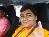 Bà Pragya Singh Thakur ở Bhopal, Ấn Độ (Ảnh: Reuters)