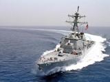 Hải quân Mỹ cho hay họ đã điều tàu USS Curtis Wilbur băng qua eo biển Đài Loan (Ảnh: AFP)