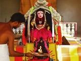 """Một đạo sĩ Hindu đang thực hiện nghi lễ cầu nguyện trước tượng thần có tên """"Corona Devi"""" ở Coimbatore, Tamil Nadu (Ảnh: AFP)"""