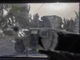 Một xe quân sự của quân đội Afghanistan bị hư hại sau cuộc đụng độ ác liệt với Taliban ở Kandahar, ngày 13/7 (Ảnh: Reuters)