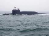 Một tàu ngầm Trường Chinh 15 của Hải quân Trung Quốc được chụp ở Thanh Đảo (Ảnh: AFP)
