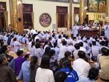 Chùa Ba Vàng tổ chức thuyết giảng công khai tối 21/3. Ảnh: Lã Nghĩa Hiếu