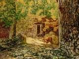 """""""Quê ngoại"""" tranh của Lưu Hoàng - tác phẩm tiêu biểu của trào lưu sơn mài hiện thực."""