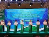 Đại diện lãnh đạo các bộ, ngành tham dự Lễ phát động toàn dân tập luyện môn bơi, phòng chống đuối nước năm 2019. Ảnh: Báo tin tức