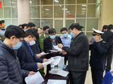 Thứ trưởng Đỗ Xuân Tuyên kiểm tra tại cửa khẩu quốc tế Thanh Thủy. Ảnh: Tuấn Dũng