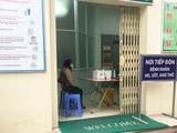 Nơi tiếp đón bệnh nhân sốt, ho, khó thở tại Bệnh viện Xanh Pôn. Ảnh: BVCC