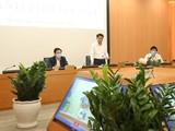 Ông Nguyễn Đức Chung – Chủ tịch UBND TP. Hà Nội phát biểu tại cuộc họp. Ảnh: UBND TP. HN